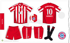 Bayern home kit 2010/2011 (7football) Tags: shirt illustration bayern football monaco illustrator munchen adidas vector robben championsleague 2010 calcio bundesliga 1011 maglia adobeillustrator trikot thome 2011 illustrazione vettoriale 201011 20102011