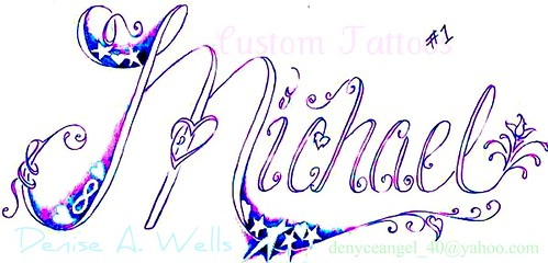 "Michael"" tattoo design by Denise A. Wells Inked!!"