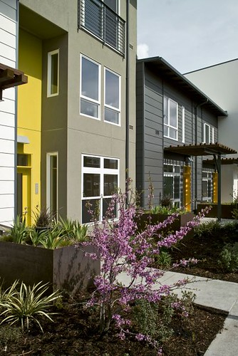 townhouse apartments at Tassafaronga Village (courtesy David Baker & Partners)
