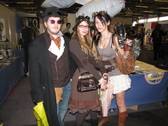 Sam, Tamara and I (House Of Secrets Incorporated) Tags: belgium belgië convention hilde ghent gent steampunk facts samvandenbulck facts2010 tamarabos