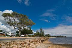 Sandgate Foreshore, Brisbane (Craig Jewell Photography) Tags: sea sky cloud tree beach clouds iso100 bay cloudy f10 brisbane fisheye promenade foreshore sandgate expansive 1400sec pentaxk10d smcpentaxda1224mmf4edalif cpjsm craigjewellphotography