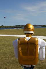 Robonaut R2 Space Robot Looking at its twin