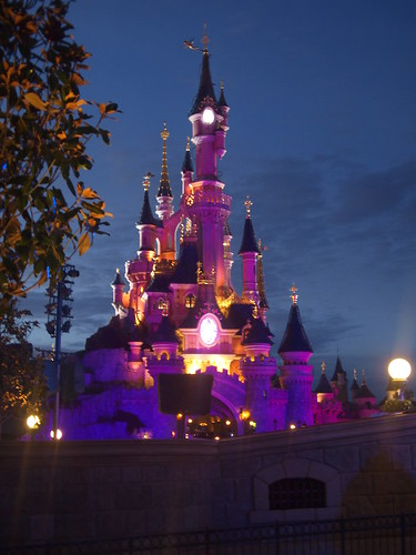 Disneyland castle in night