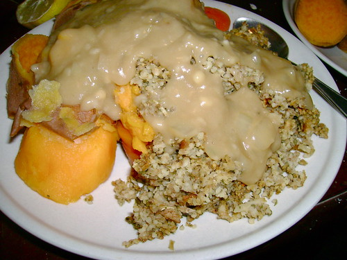 Sweet potatoes, sage & onion  cous-cous, and gravy!