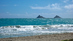 (seua_yai) Tags: travel usa beach america hawaii oahu pacificocean kailua mokuluaislands kailuabeach mokuluas kailuabay