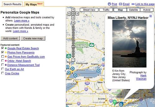 Google MyMaps: Panoramio
