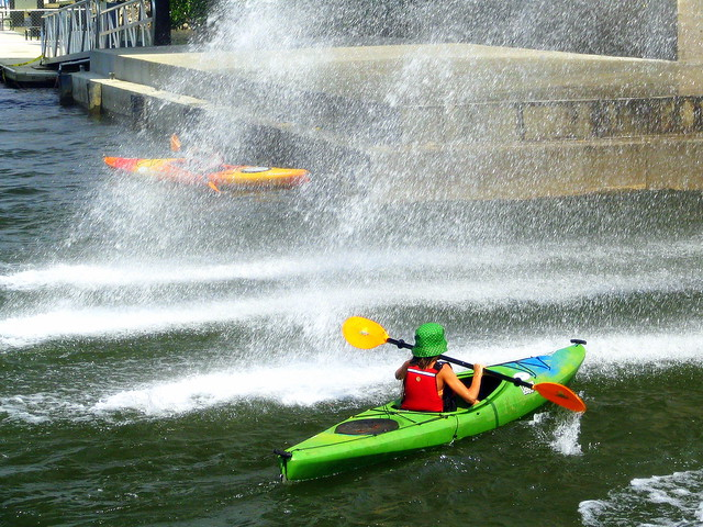 Kayaking in the Chattanooga Fountain