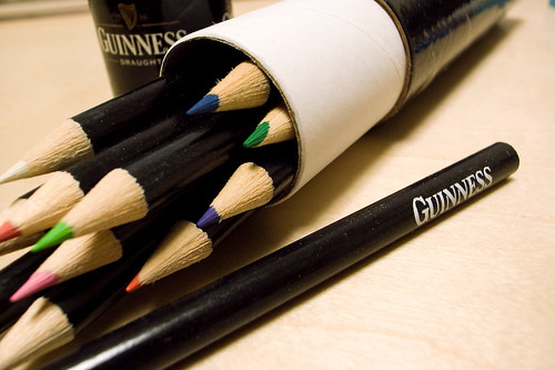 guinness color pencils