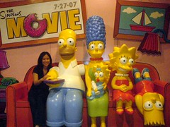 I watch TV with The Simpsons
