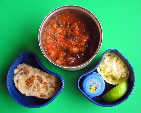 Chili lunch for preschooler