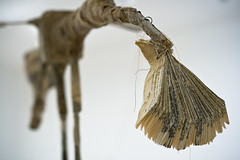 . (me-jade) Tags: sculpture art paper gallery nine 9 installation textiles sculptures shreddedpaper papersculpture gallery9 9installation pmachinium3d prosceniummachinium