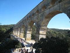 Pont du Gard Aquaduct was originally 31 miles when built in 19 B.C.