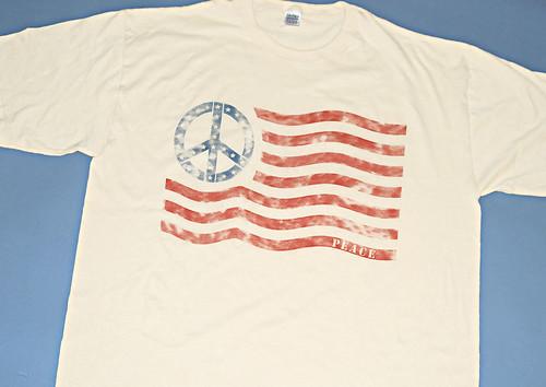vintage american flag shirt. American flag Peace Sign T-