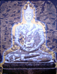 buddha 2007, by Phanthong Saenchun, acrylic on canvas, 80x100cm