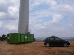 Base de um gerador eólico