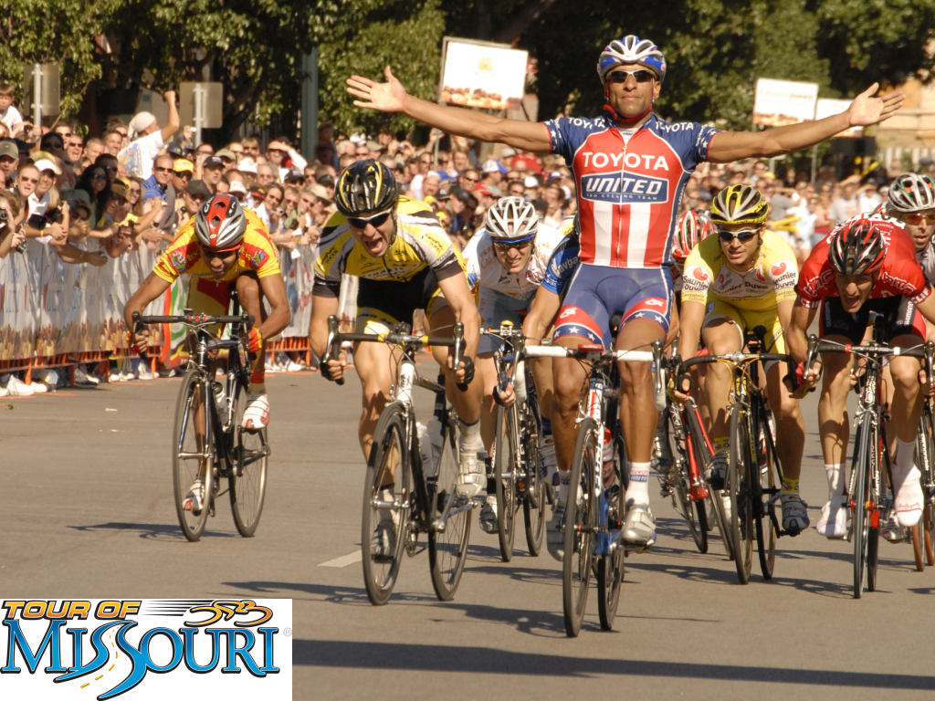 Ivan Dominguez wins Stage 1 of the 2007 Tour of Missouri