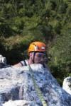 Emil vor der letzten Kante zum Gipfel des Einserturm