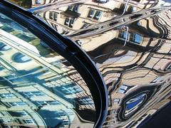 Melting Architecture (swisscan) Tags: auto car refelection abstractartaward