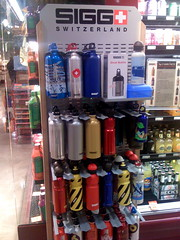 Sigg bottles in Whole Foods