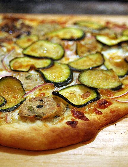Sausage & Zuccini Pizza