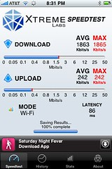 iPhone wifi speed