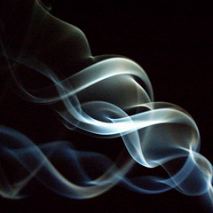 Smoke helix (jedw.40cat) Tags: smoke curling torchlight twisting cubism bluefade smoothlight