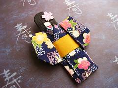 Japanese origami doll Usagi (umeorigami) Tags: japan japanese origami doll crepe yukata kimono paperdoll washi ningyo chiyogami origamidoll warabeningyo