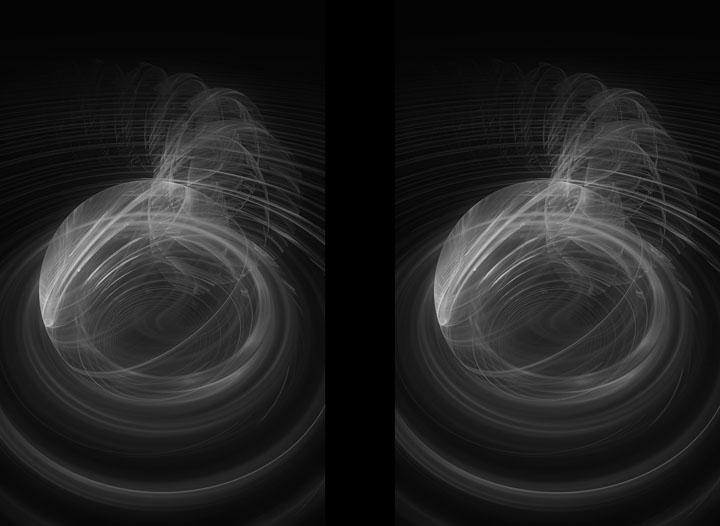 Fractal Art - Centripetal stereo by Nicholas M Vivian