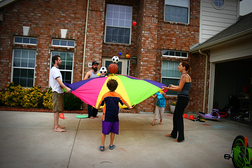 Parachute Bouncing