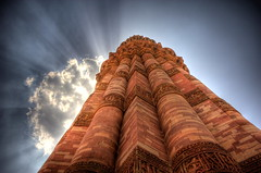 [Free Image] Architecture/Building, Tower, Minaret, Qutb Minar, World Heritage, India, 201006240100