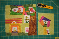 Hip to Bee Square - June (Marblesbestfriend) Tags: 5 4 bee quiltblock wonkyhouse wonkytree 60blocksofsummer