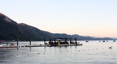 Pier at Hyatt Resorts (dj_aby) Tags: sunset sea lake water plane airplane pier nevada tahoe resort hyatt reno