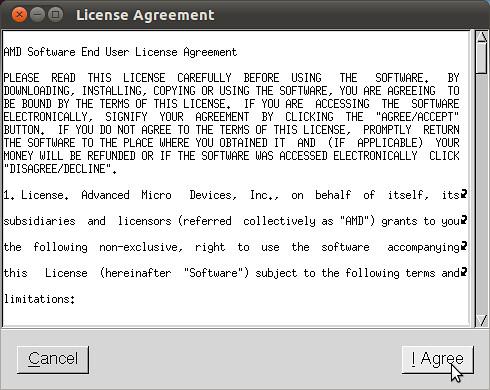 Figura 4 - Installazione Driver ATI Catalist, accettazione della licenza;