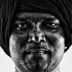 "Multicultural Festival Portrait ""Untitled"" (michael_kennedy_photos) Tags: portrait man asian grain highcontrast professional balckandwhite turban multicultural"