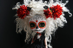 marisol 001 (Kittytoes) Tags: dayofthedead skull doll sugar diadelosmuertos pullip marisol calavera melancholykitties 31daysofoctober