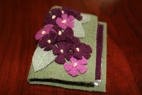 Felt Needle Book Flowers
