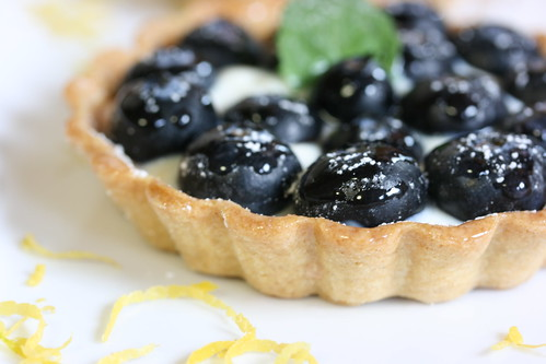 "Mini Blueberry Tarts with Lemon ""Cream"""