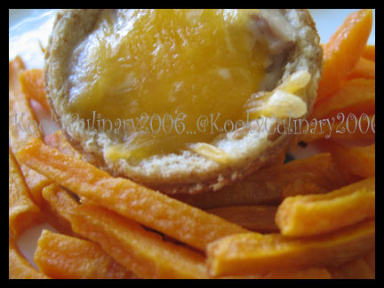 Sweet Potato Fries & Cheese Tuna Cup