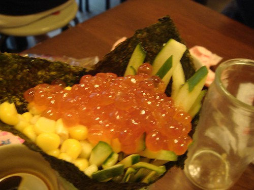 三味食堂-鮭魚卵手卷