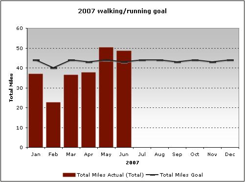 2007 walking/running goal