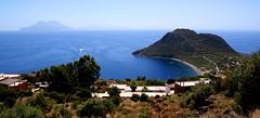 Salina, Lipari from Filicudi Island.