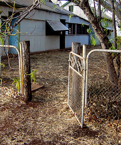 old gate at Newcastle Waters - NT, Australia