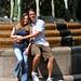 Jon & Tonya in front of Charleston Place Fountain