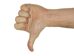 Thumbs Down - With clipping Path (Craig Jewell Photography) Tags: white against up sign hand arm symbol error path finger no space performance bad down communication wrong problem negative statement thumb objection concept gesture lose metaphor vote signal unhappy defeat decline isolated rejection reject clipping decision symbolic upward opposition rate denied fail unsuccessful persuasion disagree oppose incorrect persuade disapprove discourage craigjewellphotography