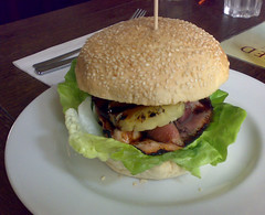 Teriyaki burger at The Cambridge Bar, Edinburgh
