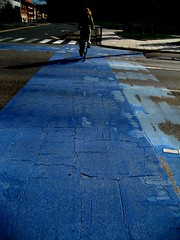 Blue Bike Lane