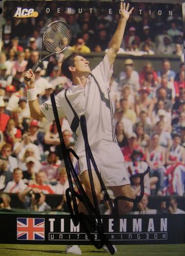 Tim Henman - Tim Henman's Rookie Card (Autographed)