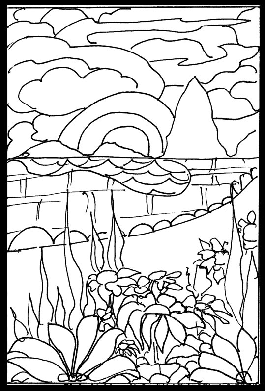 japanese garden coloring pages - photo #2