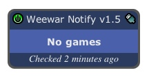 Weewar Notify