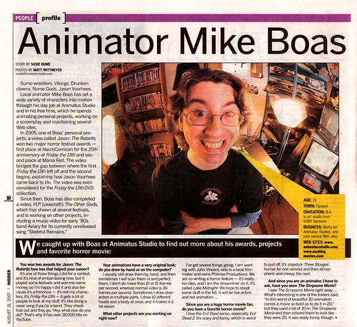 Animator Mike Boas